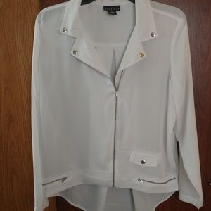 Metaphor White Linen - like Jacket